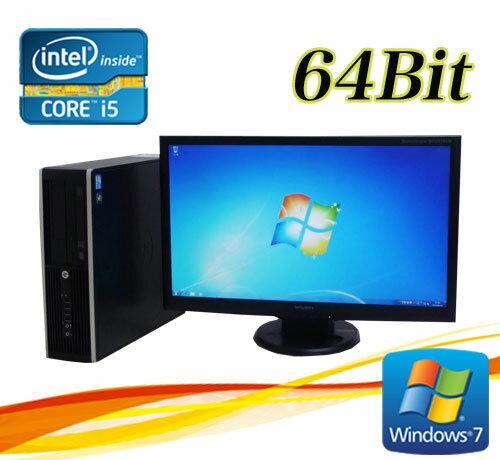 中古パソコン デスクトップ HP 6300 SF 23型ワイド液晶 Core i5 3470-3.2GHz メモリ8GB DVDマルチ 64Bit Windows7 Pro /R-dtb-479 /USB3.0対応 /中古