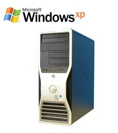DELL Precision T3400 Core 2 Duo メモリ4GB WindowsXP Pro ワークステーション 中古パソコン デスクトップ R-w-044