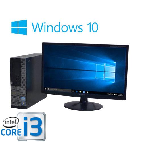 中古パソコン DELL Optiplex 7010SF Core i3 3220 3.3GHzメモリ8GB SSD(新品)120GB + HDD(新品)1TB DVDマルチ Windows10 Home 64bit MRR 22型ワイド液晶/0370SR /USB3.0対応 /中古