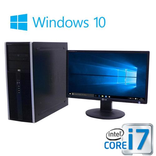 中古パソコン HP 8300MT Core i7 3770 3.4G 大容量メモリ8GB 新品SSD240GB + HDD500GB DVDマルチ Windows10 Home 64bit 22型ワイド液晶 /0937SR/中古