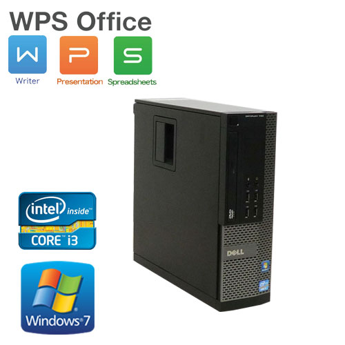 中古パソコン DELL 790SF Core i3 2100(3.1GHz) メモリ2GB DVD-ROM HDD250GB Office_WPS2017 Windows7 Pro /RRR-d-353 /中古