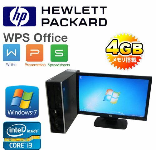 中古パソコン 64Bit Windows7 Pro /Core i3-2100(3.1GHz) HP 6200sf 20型ワイド液晶 メモリ4GB DVDマルチ /R-dtb-445/中古