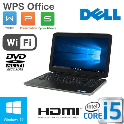 中古 ノートパソコン ノートPC Core i5 3340M(2.7GHz) Windows10 Home 64Bit MAR DELL Latitude E5530 15.6液晶 ディスプレイ メモリ4GB HDD320GB DVDマルチドライブ 無線LAN WPS Office付き ノートパソコン1006NR/中古