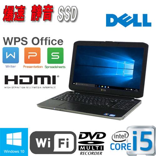 中古 ノートパソコン ノートPC Windows10 Home 64Bit MRR Core i5 3340M (2.7GHz DELL Latitude E5530 A4 15.6型ワイド液晶 メモリ4GB SSD新品120GB DVDマルチ 無線LAN Office_WPS2017 /ノートパソコン/1009NR/中古