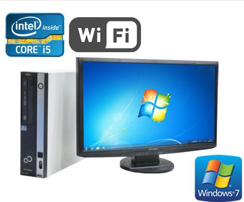 中古パソコン 無線LAN対応 富士通 ESPRIMO D751 Core i5 2400 3.1GHz フルHD対応23型ワイド液晶 メモリ2GB Windows7 Pro /R-dtb-435 /中古