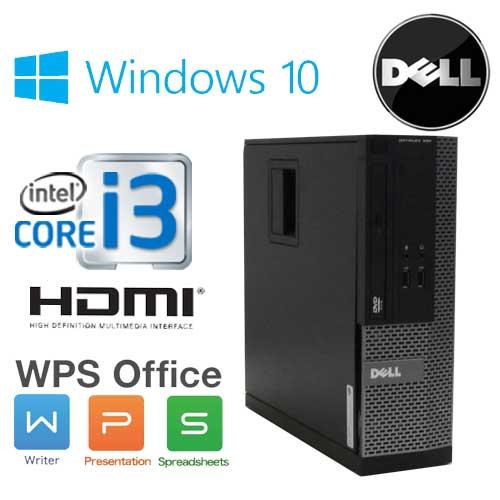 中古パソコン デスクトップ DELL Optiplex 3010SF Core i3 2100(3.1GHz) DVD-ROM メモリ4GB HDD500GB HDMI WPS Office Windows10 Home 64Bit(MAR) /1630a-3R /中古