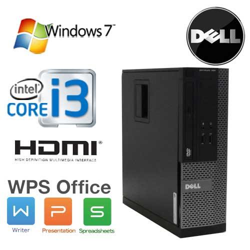 中古パソコン DELL Optiplex 3010SF Core i3 2100(3.1GHz) DVD-ROM メモリ2GB HDD250GB WPS Office Windows7Pro 32Bit /1630a7R /中古