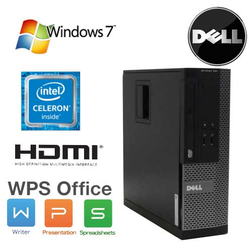 中古パソコン デスクトップ デスクトップパソコン DELL Optiplex 390SF Celeron Dual Core G530(2.4GHz) メモリ2GB HDD250GB DVD-ROM HDMI WPS Office Windows7 Pro 32bit /1559a7-7R /中古
