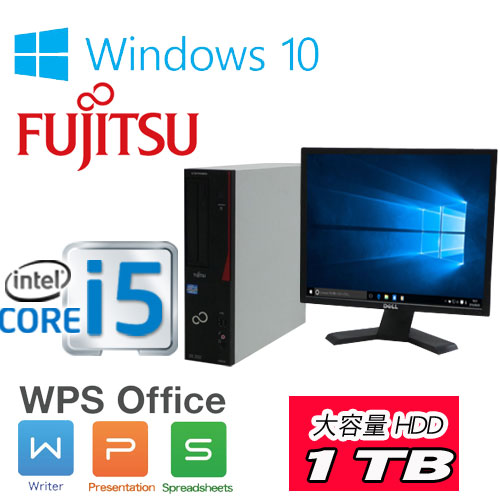 中古パソコン デスクトップ 富士通 D582 第3世代 Core i5-3470(3.2Ghz) メモリ4GB DVDマルチドライブ HDD 1TB Windows10 Home 64Bit(正規OS MAR) /19型スクエア液晶 /1306sR(dtb-) /中古