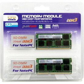 CFD W3N1600PS-L8G [DDR3-1600/8GB x2枚] ノート用メモリ 低電圧:1.35V 204pin SO-DIMM 2枚組動作確認済セット