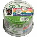 磁気研究所 HI DISC HDCR80GP50 CD-R データ用 700MB 52倍速 ワイドエリアホワイトプリンタブル スピンドルケース 50枚
