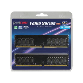 CFD W4U2666PS-8GC19 [DDR4-2666/8GB x2枚] デスクトップ用メモリ CFD Panram シリーズ