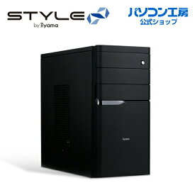 iiyama STYLE∞ デスクトップPC STYLE-M1B6-i5-UH5SM モニタ別売 [Windows 10 Home/Core i5-8400/8GB メモリ/480GB SSD]