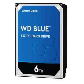 Western Digital WD60EZAZ-RT [6TB/3.5インチ/5400rpm/SATA ] 内蔵ハードディスク WD Blue/256MBキャッシュ搭載