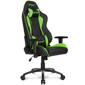 【Gaming Goods】AKRacing ゲーミングチェア Nitro V2 Gaming Chair (Green) 高耐久PUレザー素材を張地に採用 NITRO V2シリーズ