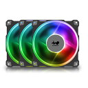 IN WIN Jupiter AJ120 トリプルパック / FN-AJ120-3PK アドレサブルRGB LED搭載、冷却性/防振性を高めるケースファン …