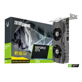 ZOTAC GAMING GeForce GTX 1650 Low Profile GDDR6 / ZT-T16520H-10L GeForce GTX 1650 搭載グラフィックカード ロープロファイル対応
