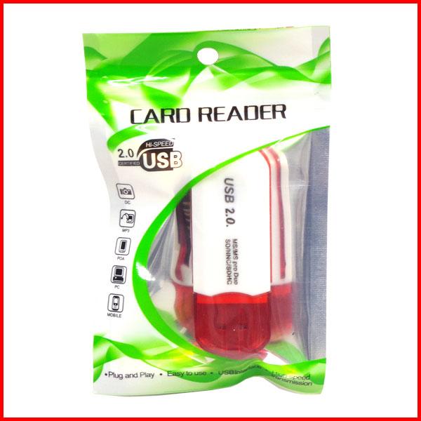 【新品】 USB カードリーダー CARD READER USB2.0 SDカード MicroSD MiniSD MMC SDHC 送料無料