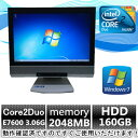 中古パソコン【Windows 7 Pro】NEC一体型PC MG-A Core2Duo E7600 3.06G/2G/160GB/DVD-ROM/19インチ【E...