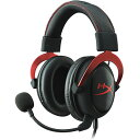 【Gaming Goods】KINGSTON KHX-HSCP-RD 赤/黒 ゲーミングヘッドセット HyperX Cloud II- Pro Gaming H...