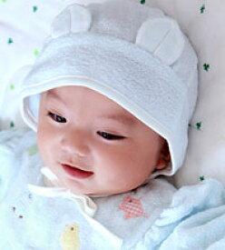 【ネコポス対応】ピースベビーグース 『ふわサラ耳付きボンネット』 新生児〜 男の子/女の子 タオル/ガーゼ ベビー 帽子 耳つき タオル/ガーゼ