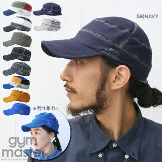 【メール便可】【gymmaster】ロックステッチスウェットワークキャップキャスケットツバ付きニット帽子CAPニット帽日焼けUVカット小顔効果ジムマスター【メンズ/レディース】【S/S】【A/W】
