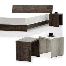 ナイトテーブル ミニテーブル サイドテーブル 幅40cm テーブル ミニサイズ ブラウン アイボリー 選べる2色 高さ35cm ビンテージ風 コンパクト 省スペース 木製 北欧 オシャレ モダン 送料無料