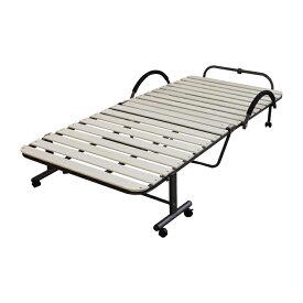 折りたたみ すのこベッド 収納ベッド シングルベッド キャスター付き スノコ 折り畳み スチール コンパクト収納 ベット 一人暮らし 新生活 送料無料
