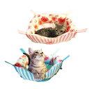 【在庫有】【レインボー】 2Way ニャンモック 花柄 【_cat】
