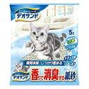 [月得][1]【ユニチャーム】 デオサンド 消臭する紙砂 ナチュラルソープの香り 猫砂 5L