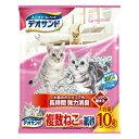 [月得][1]【ユニチャーム】 デオサンド 複数ねこ用紙砂 猫砂 10L