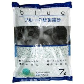 【ペットプロ】 ブルーの紙製猫砂 7L