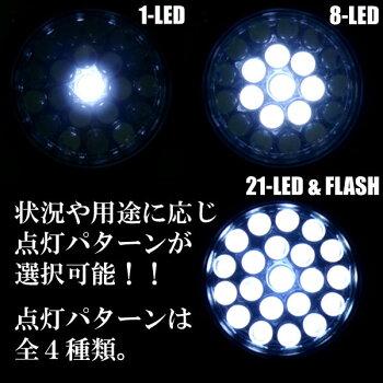 ロングセラー商品防災・アウトドア・夜釣りに高輝度LED採用「LED21灯ヘッドライト」