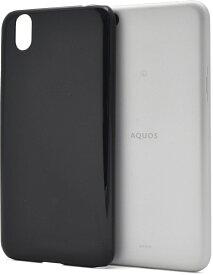 【メール便4個まで送料無料】AQUOS sense lite SH-M05 ハードケース (クリア 透明 ホワイト 白 ブラック 黒)
