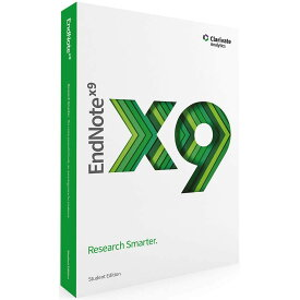 EndNote X9 Student Edition Windows/Mac 英語版 パッケージ版 輸入品