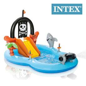 インテックス ビニールプール パイレーツプレイセンター プール 家庭用プール 滑り台 INTEX Pirate Play Center 57168