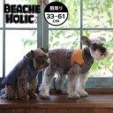【半額以下!70%OFF】【2018年秋冬】【BEACHE HOLIC】ビーチェホリックストライプ切替中綿ベスト小型犬&中型犬サイズ