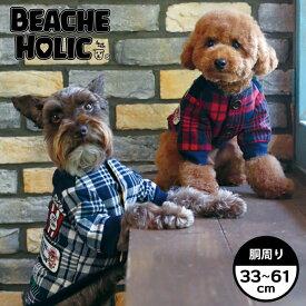 【半額以下!70%OFF】【2018年秋冬】【BEACHE HOLIC】ビーチェホリックワッペン中綿ジャケット小型犬&中型犬サイズ