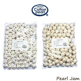 【ネコポス便送料無料】コットンパール 両穴 16mm 大袋(100ヶ入) 正規品 日本製【PearlJam】 パールジャム