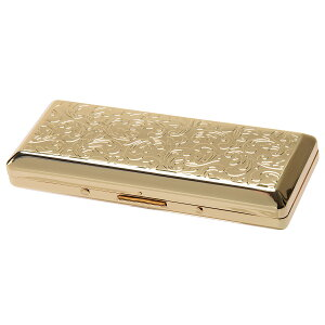 カジュアルメタル10本(100mm) ゴールドアラベスク シガレットケース 1-96129-41
