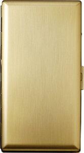 PEARL エリカ12(100mm) ゴールドサテン シガレットケース/坪田パール日本製 1-28126-41