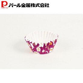 レッツハロウィーン 紙製カップケーキ焼型 パープル(7枚入) パール金属