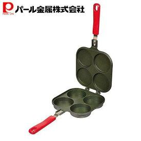 パール金属 おやつDEっSE ふっ素加工 大判焼器4穴 ガス火専用 D-420