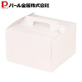 パール金属 ウィズハート デコケーキ ボックス 18cm用 シフォン兼用 ホワイト 日本製 D-2195