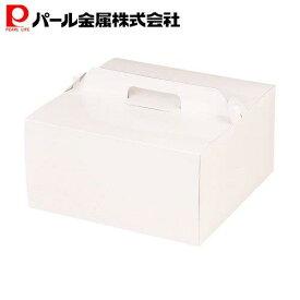 パール金属 ウィズハート デコケーキ ボックス 20cm用 ホワイト 日本製 D-2194