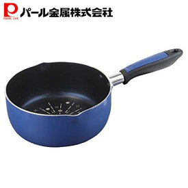 DELISH KITCHEN パール金属 雪平鍋 ネイビー 18cm IH対応 HB-4250
