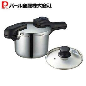 【あす楽】 圧力鍋 3.5L IH対応 クイックエコ H-5040 + ガラス蓋 2点セット 【セット買い】 パール金属
