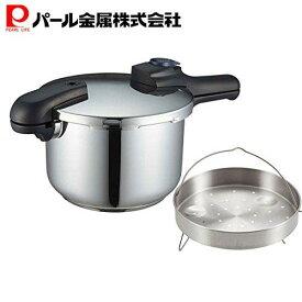【あす楽】 圧力鍋 5.5L IH対応 クイックエコ H-5042 + 蒸し目皿 2点セット 【セット買い】 パール金属