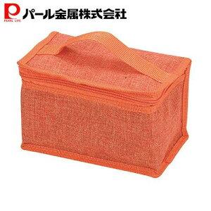 パール金属 クールストレージ 保冷ランチバッグ2L オレンジ D-6490