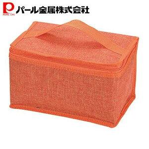 パール金属 クールストレージ 保冷ランチバッグ4L オレンジ D-6491